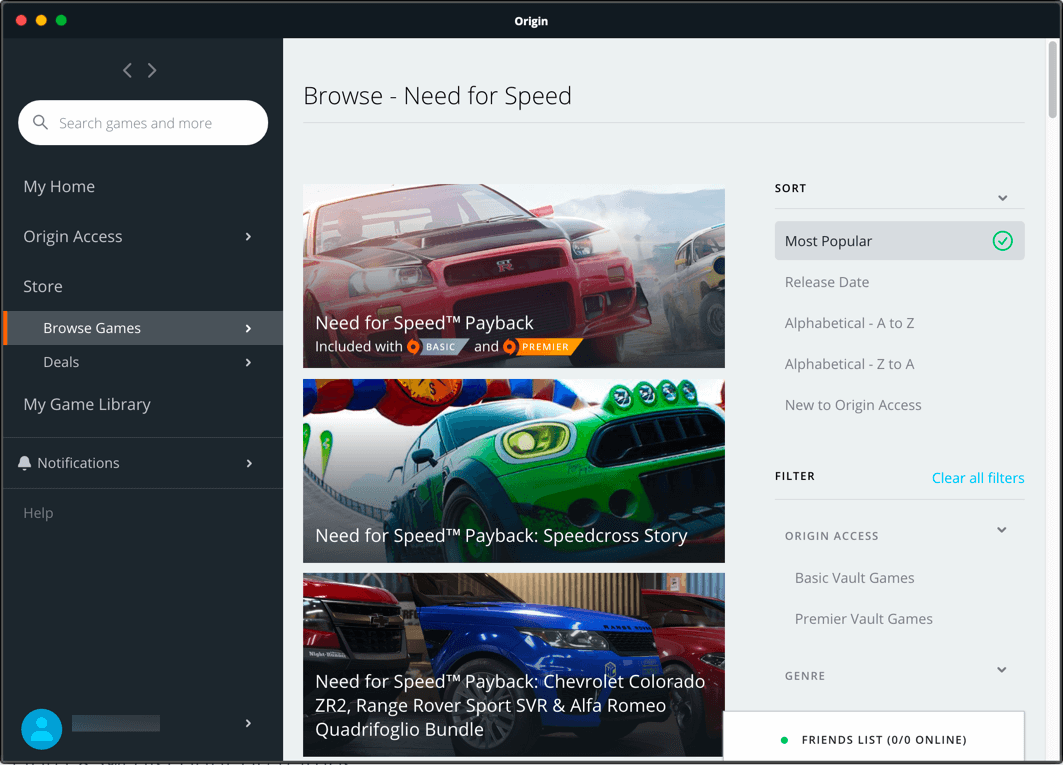 Origin Screenshot 3